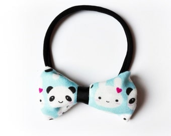 Bow hair band all sizes panda and Bunny