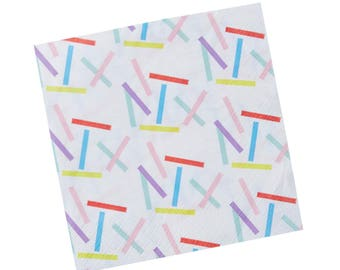 Napkins | Sprinkles Paper Napkins | Sprinkles Shower | Ice Cream Party | Donut Party | Quality Napkins | Party Supplies | The Party Darling