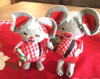 Cute Vintage Christmas Mice Ornaments Christmas Decorations