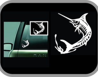 Marlin Fish car decal