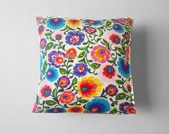 Folk Art, Polish Folk Art, Throw pillow, 16x16 Decorative pillow, Folk Pillow, Home decor, Sofa pillow, Polish Folk Pillow, Florar Ornament