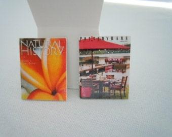 Miniature Magazine ~ Catalog ~ Pottery Barn ~ Natural History ~ Library ~ Book ~ Miniature ~ Fairy garden ~ Dollhouse ~ Accessories