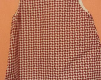 Crimson houndstooth dress