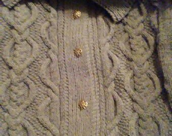 Aran Hand knit cardigan