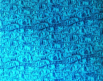 "Blue Rayon Fabric, Animal Print, Home Accessories, Ethnic Fabric, Sewing Supplies, 44"" Inch Dress Fabric By The Yard ZBR541C"
