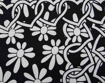 """Floral Printed Fabric, Black Fabric, Home Decoration, Dress Fabric, Craft Fabric, 44"""" Inch Cotton Fabric By The Yard ZBC7869A"""