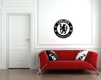 Chelsea FC Badge Wall Art Vinyl Decal Sticker Football Club Sport Soccer Mural FC Die Cut