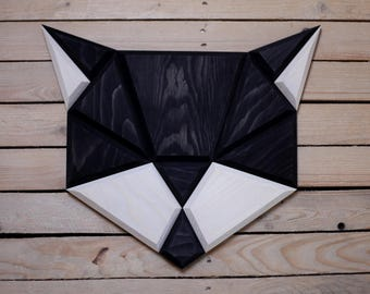 black wooden cat wall decor