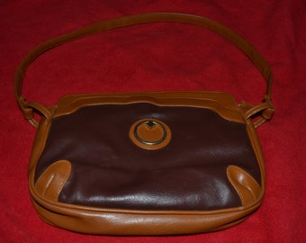 Vintage 70s Chocolate and Caramel Colored Mr Ralph Ralfeaux Purse