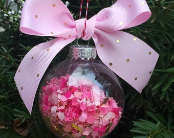 Pink christmas ornament  Etsy