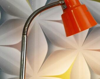 Vintage Sajid balcha lamp 70s Orange