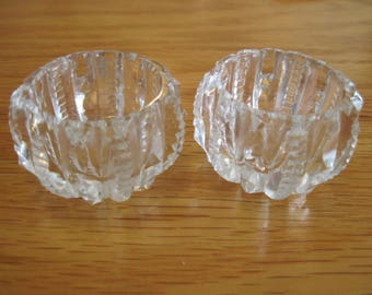 Pair of Pressed Glass Salt Cellars - Item #1486