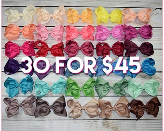Hair Bows/8 inch bow /BEST SELLER/30 colors----Sassy Girl-Large hair bow/ Boutique bows/girl bows  Large hair bow/ Boutique bows/girl bows