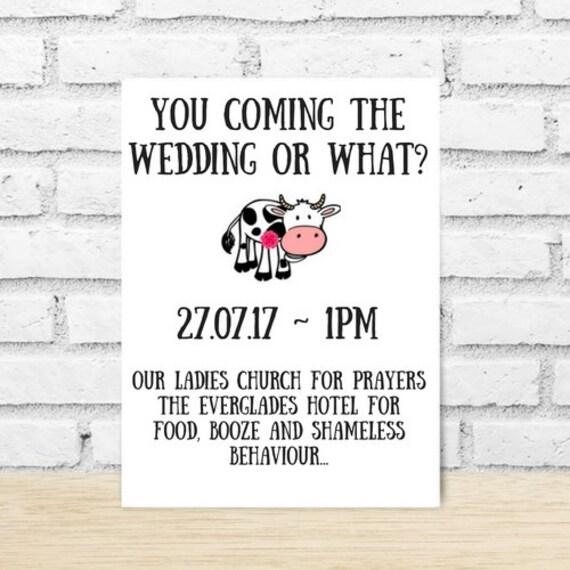 Humor Wedding Invitations: 10 Funny Wedding Invitations Sarcastic Invitations