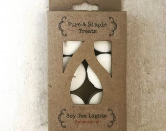 6 Pack - Soy Tea Light Candles
