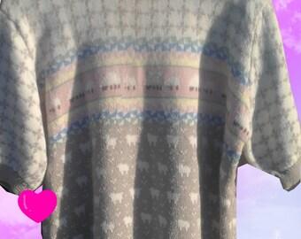 80s Sleepy Sheepy Sweater Shirt