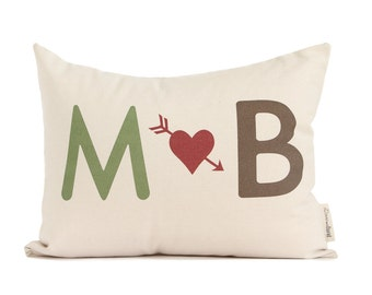 Gift for him, Gift for her, Gift For Wife, Anniversary Gift, 2nd Anniversary, Couples Gift, Throw Pillows, Newlyweds, Cotton Anniversary