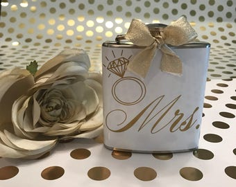 Handmade Bridal Engagement Flask Gift for the Bride