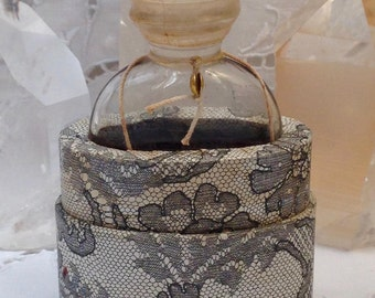 Marcel Rochas, Femme, 30 ml. or 1 oz. Flacon, Pure Parfum Extrait, Lalique, 1943, Paris, France ..