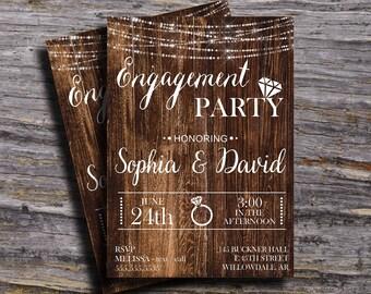 Engagement Invitations, Rustic Engagement Invitation, Engagement Party Invitation