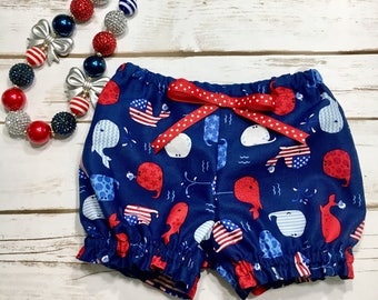 Independence Day - Sparkler - July 4th Bloomers - Diaper cover - Memorial Day Bloomers - girl bloomers