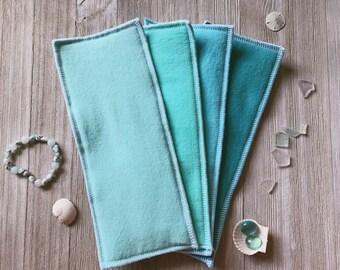 Zorb Cloth Diaper Inserts/Boosters-Aquamarine Colors