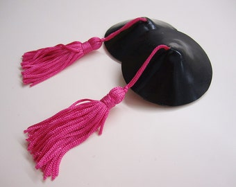 Artemisia Latex Nipple Pasties with Tassels