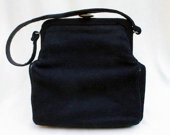 Vintage black cloth purse