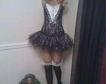 Nightmare Before Christmas, Jack Skellington inspired, Corset, Halloween costume, woman costume