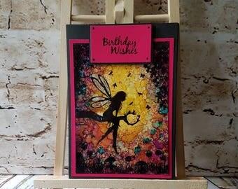 Handmade Fairy Birthday Blank Greetings Card