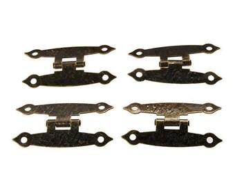 4 pcs H-type  Hinge  Metal Hinge Antique Wooden Box Hinge USA Seller