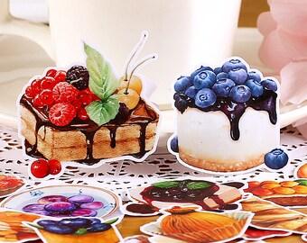 Sweet Desserts (20 pcs) // Die Cut Stickers // Planners //  Laptop Stickers  // Scrapbooking Essentials