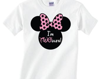Minnie Mouse Birthday Shirt 2 Year Old