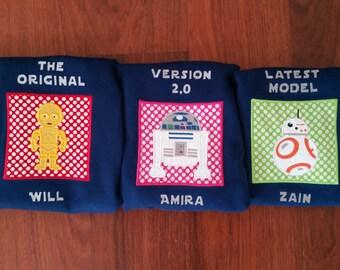 Starwars Sibling Shirts// Set of 3 Sibling Shirts