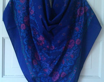 Souleiado Cobalt Cotton Beach wrap, made in France // iconic Provencal maker, large cotton beach wrap, made in France