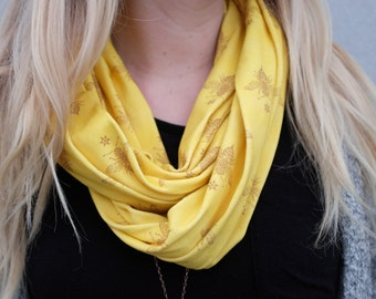 Mustard Bee Organic Scarf | Drizzle Honey Products