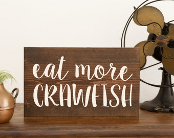 Crawfish sign Crawfish art Crawfish decor Cajun Crawfish boil Cajun art Cajun decor Crawfish party Pinch peel eat NOLA gift Mardi Gras LA