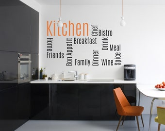 Kitchen Words - Vinyl Wall Decal Quote
