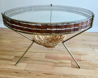 RESERVED/Atomic Glass Coffee Table