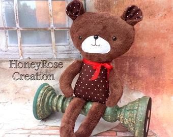 Bear stuffed toy.Bear toy.