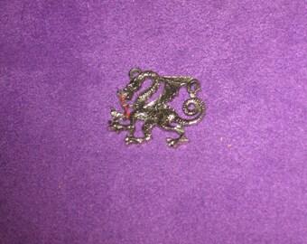 Vintage Sterling Silver Dragon Pendant, Excellent Plus Condition.