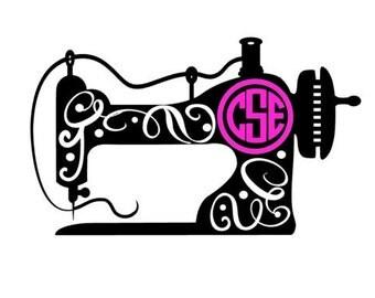 monogram sewing machine decal // sewing machine decal // quilting decal // sewing machine // seamstress // quilting