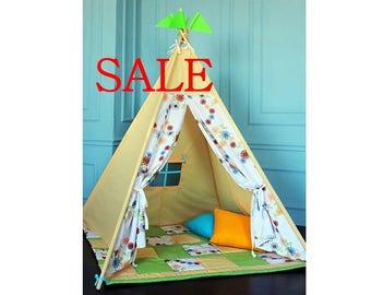 Sale - Teepee - Wigwam - Play tent - Teepee Tent - Playhouse - Gift - Teepee - Wigwam - Present - Toys - Play House