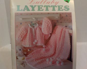 Lullaby Layetts For Baby Vintage Crochet 4 Patterns by Leisure Arts