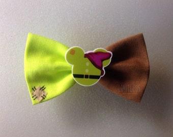 Dopey Small Barrette clip Hair bow