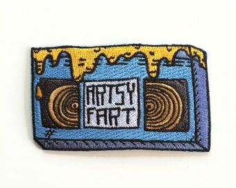 VCR Tape Artsy Fart Iron on Patch