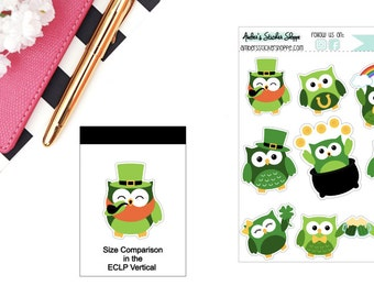 Saint Patrick's Day St. Patty's Day Owl Sticker for any Planner