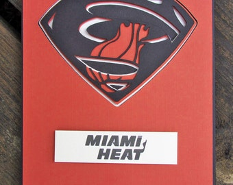 Miami Heat Card - Super Miami Heat Fan, Basketball Team Card