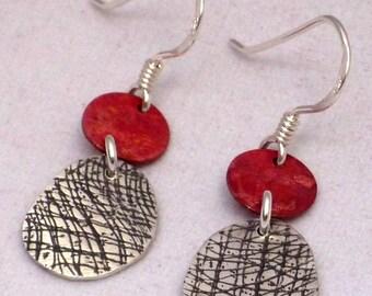 Earrings patina & texture