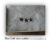 Three little stars necklace (New initial option)